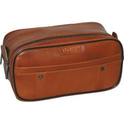 Men S Dopp Veneto Soft Sided Multi Zip Travel Kit Tan Brown