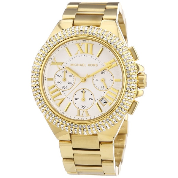 fa824be75088 Michael Kors Women s MK5756  Camille  Gold-Tone Chronograph Watch ...