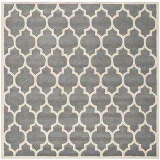 Safavieh Handmade Moroccan Dark Grey Crisscross Pattern