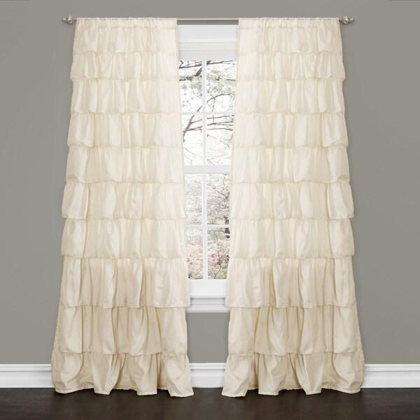 Lush Decor Ivory 84 Inch Ruffle Curtain Panel 15436476