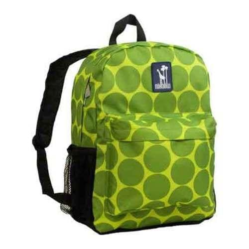 9b2cc71ab0c8 Childrens Wildkin Tag along Backpack Big Dots Green