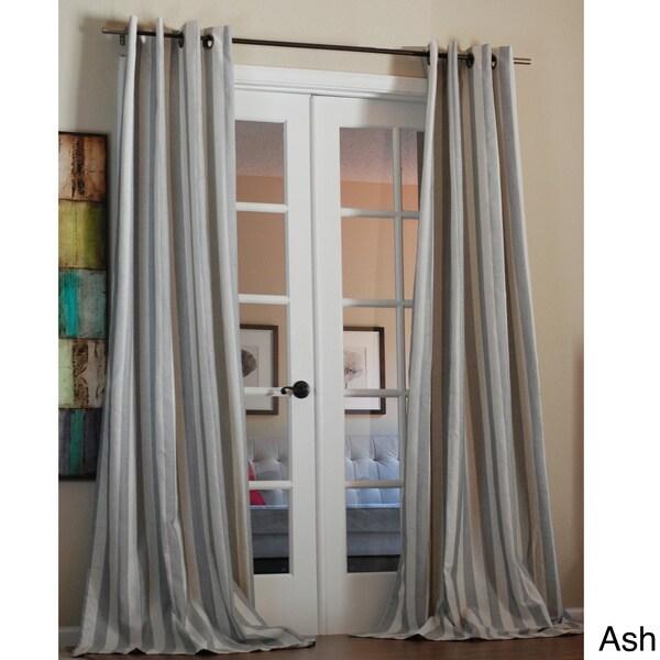 Taylor Bold Stripe Linen Blend 96 Inch Curtain Panel