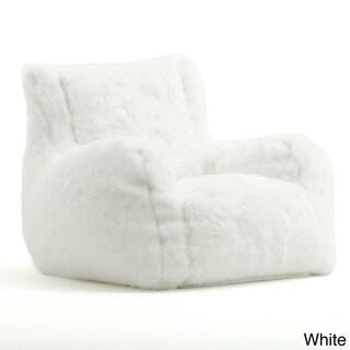 Beansack Big Joe Lusso Faux Fur Bean Bag Chair Overstock