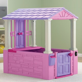 American Plastic Toys Pink Girl S Playhouse
