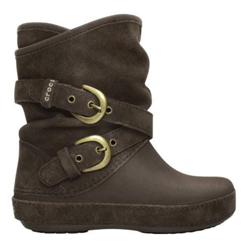 d3fe0db9c7d42 Girls' Crocs Berryessa Suede Buckle Boot Espresso Crocs Boots on ...
