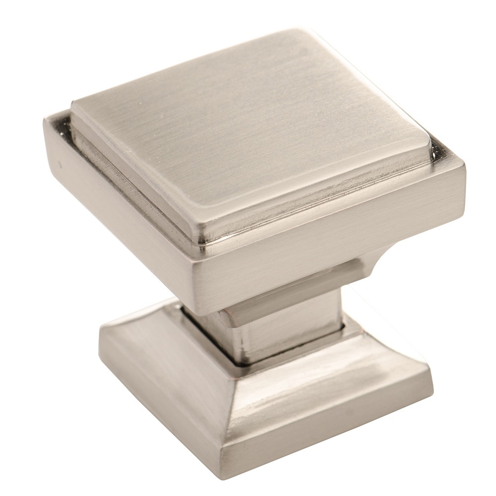 Overstock Kitchen Cabinet Hardware: Southern Hills Satin Nickel Square Cabinet Knob (Pack Of