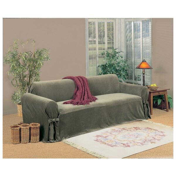 Microfiber Velvet Sofa Slipcover 15451886 Overstock