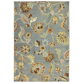 Copia Sand Floral 8x10 Polyester Rug 15820335