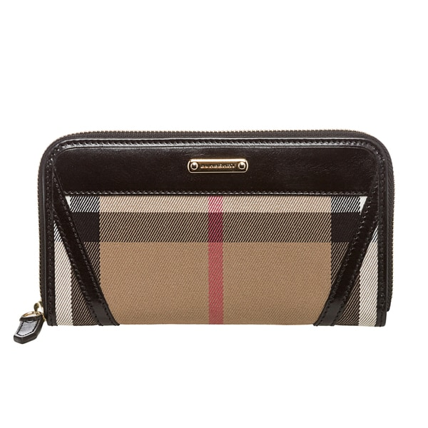 56d726383637 Burberry Bridle House Check Zip around Wallet Burberry Designer Wallets