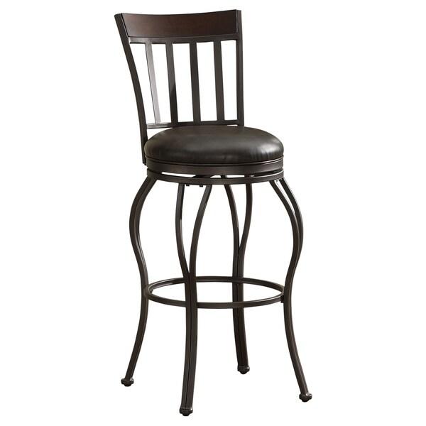 Lara Swivel Stool With Leather Seat 15459477 Overstock