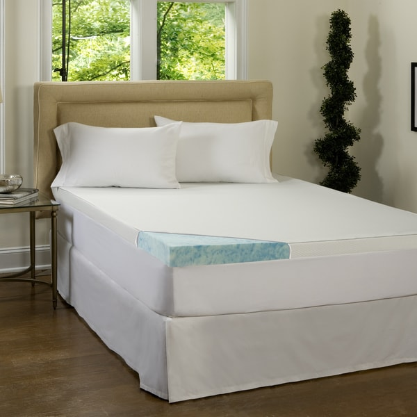 Beautyrest 3 Inch Gel Memory Foam Mattress Topper With