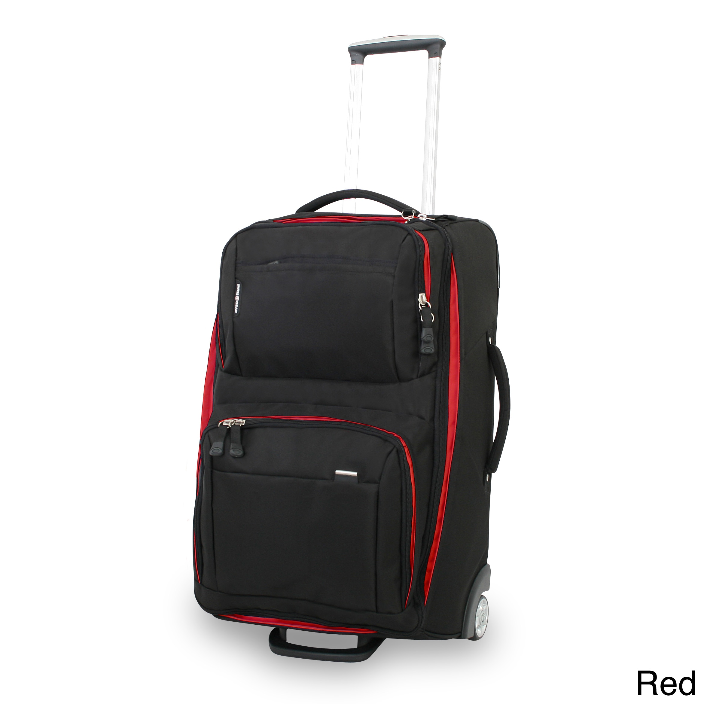 21ba3fce8760 Wenger Swiss Gear Sports 28 inch Rolling Lightweight Upright Suitcase  (PolyesterColor options Black with red