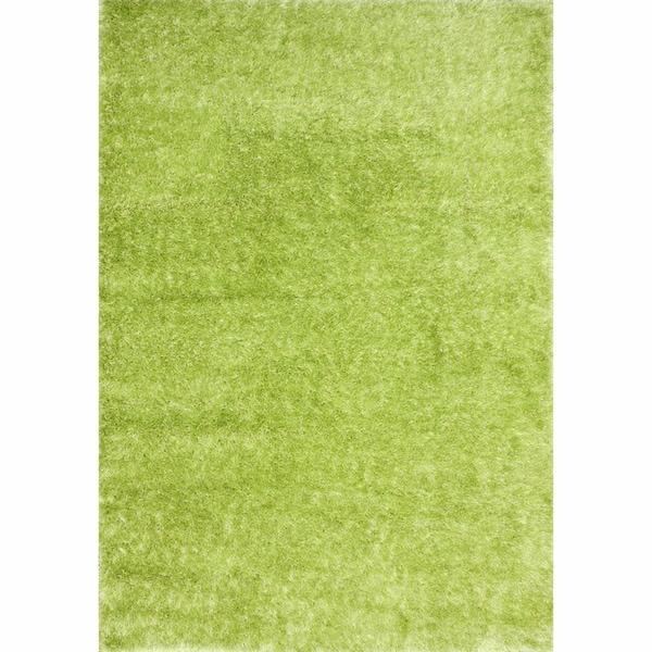NuLOOM Sparkle Plush Lime Green Shag Rug (8' X 10