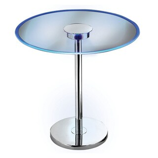 Comet 20 Inches Wide With Chrome Finish Glass LED Table