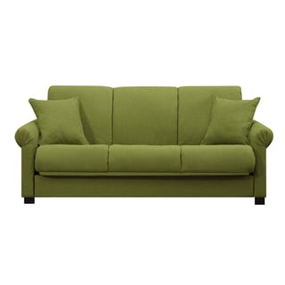 Portfolio Ellie Apple Green Linen Sofa 14084718