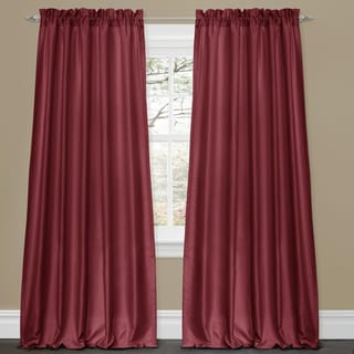 Lush Decor Lucia Ivory 84 Inch Curtain Panel Pair