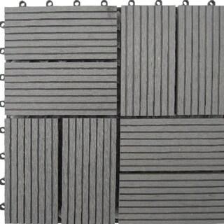 Acacia Hardwood Deck Tiles Pack Of 10 13681652