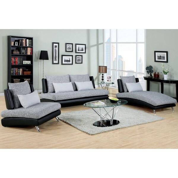 Furniture Of America Luminate Contemporary 7 Piece: Furniture Of America Kanchy Contemporary 3-piece 2-tone