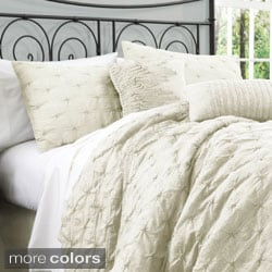 Madison Park Meyers Grey 7 Piece Solid Casual Pattern