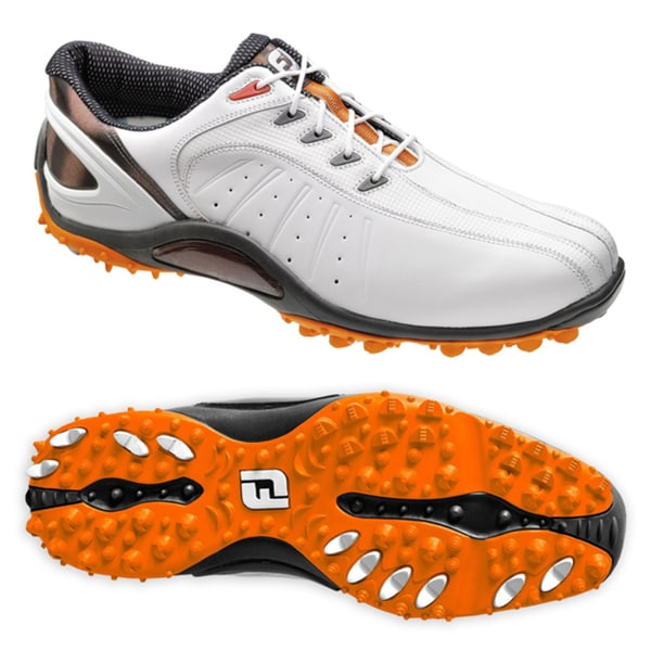 Footjoy Sport Spikeless Golf Shoes White Orange