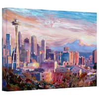 Markus Bleichner's 'Seattle Skyline with Space Needle' Gallery Wrapped Canvas