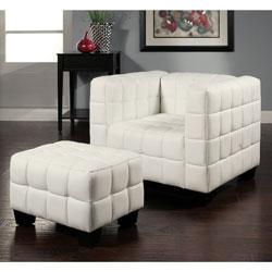 Amazing Abbyson Living Firenze White Top Grain Leather Chair And Uwap Interior Chair Design Uwaporg