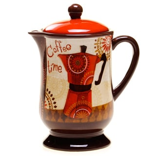 Certified International Cup Of Joe Coffee Pot