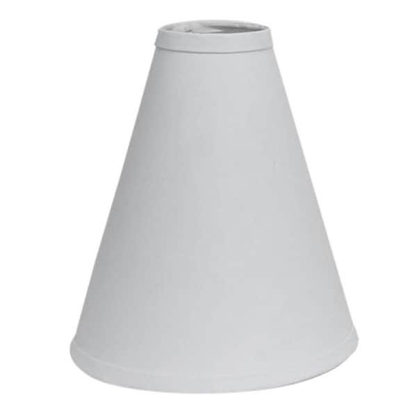 Hardback Linen White Cone Lamp Shade 15480809
