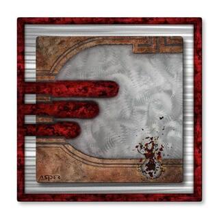 Handcrafted Beaten Tin Window Frame Metal On Hand