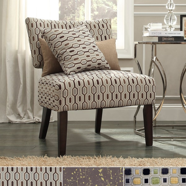 INSPIRE Q Draper Armless Print Fabric Accent Chair