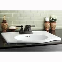 Vitreous China Countertop Sink with 4-inch Faucet Holes