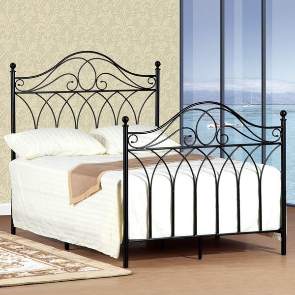 Queen Size Black Headboard And Footboard Set 15504677