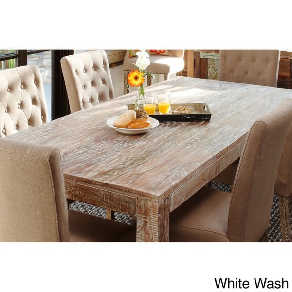 Inch Rectangle Distressed White Kitchen Table
