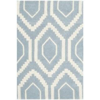 Safavieh Handmade Moroccan Chatham Dark Blue Ivory Canvas
