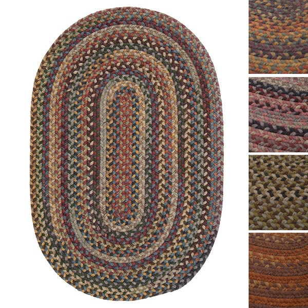 Forester Multicolored Braided Wool Rug 4 X 6 Oval