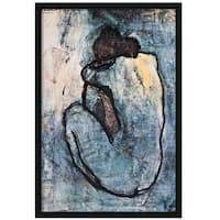 Framed Art Print The Blue Nude (Seated Nude), 1902 by Pablo Picasso 26 x 38-inch
