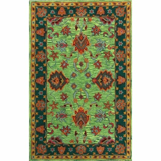 Nuloom Handmade Overdyed Traditional Orange Wool Rug 6 X