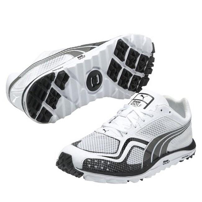Puma Mens White Faas Lite Mesh Spikeless Golf Shoes on PopScreen a655973dd