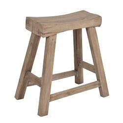 Saddle Seat 18 Inch Walnut Barstools Set Of 2
