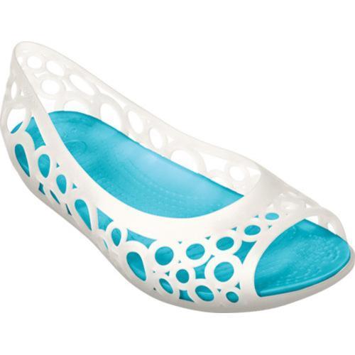 fee846b6168b Womens Crocs Adrina Flat Oyster Aqua Shopping Great on PopScreen