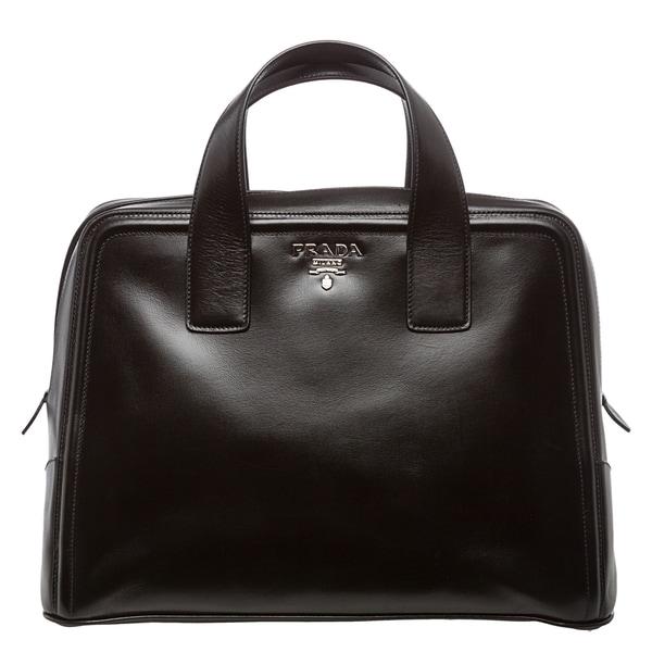 e4958703b4ef Prada Black Boxy Calf Leather Satchel - xskoshop2