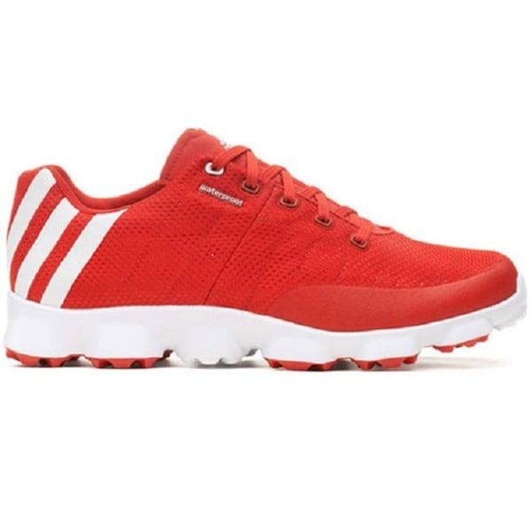 pretty nice e97cd 42e3b Adidas Mens Crossflex Vivid Red White Golf Shoes