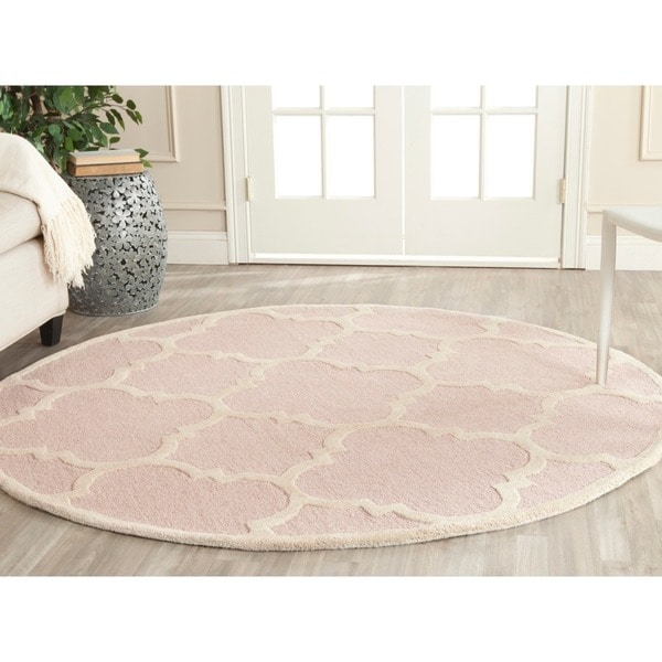 Safavieh Handmade Moroccan Cambridge Light Pink Ivory
