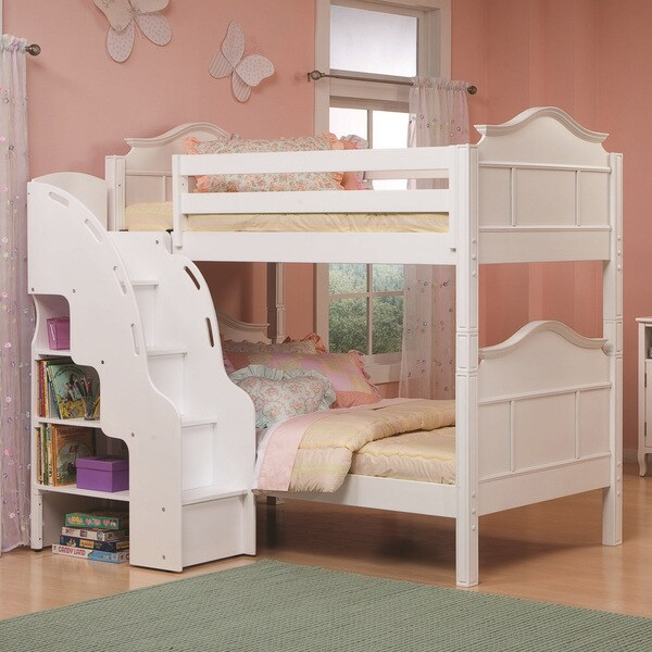 Bolton Emma Bunk Bed With Bookcase Stairs 15559158