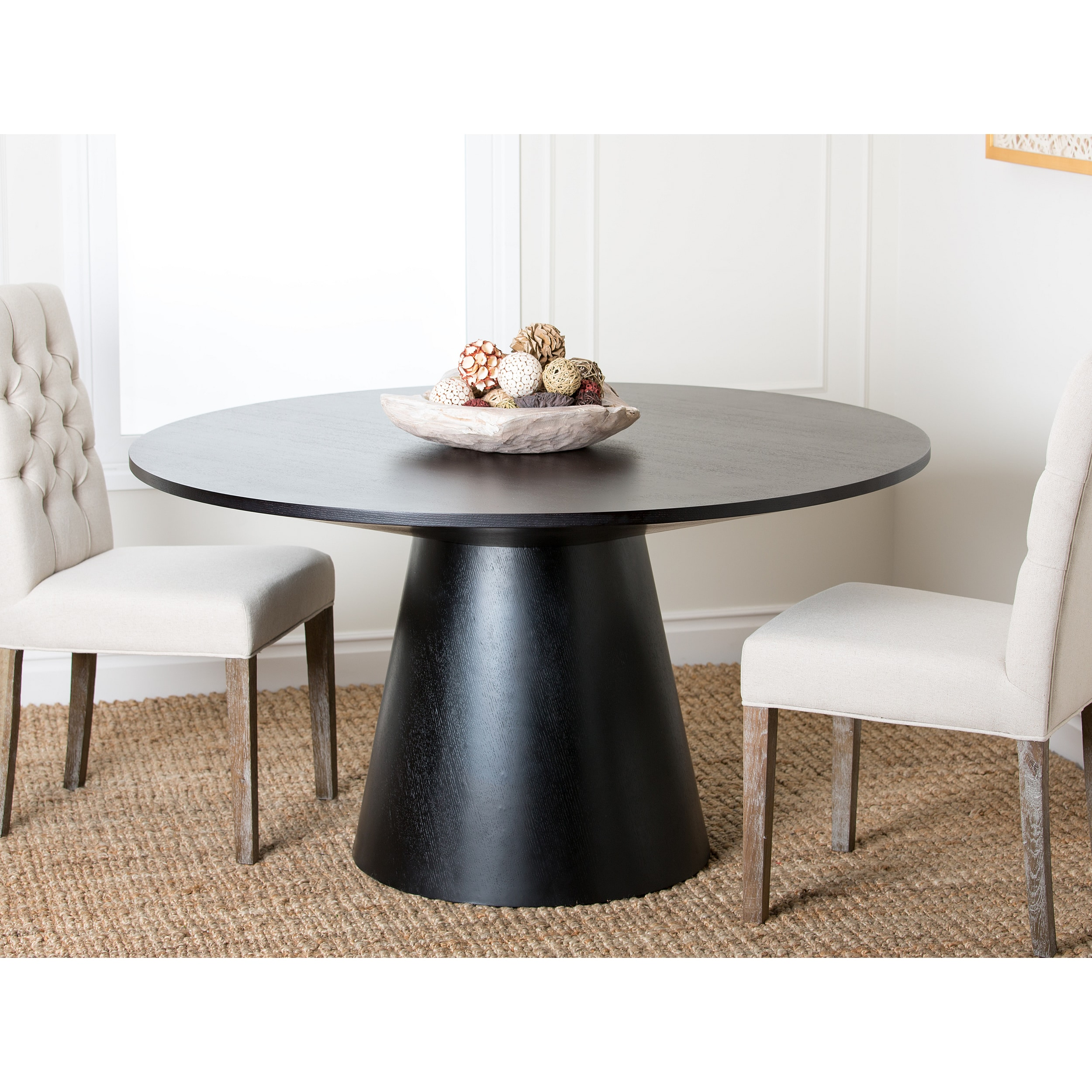 Abbyson Living Sienna Round Wood Dining Table Overstock