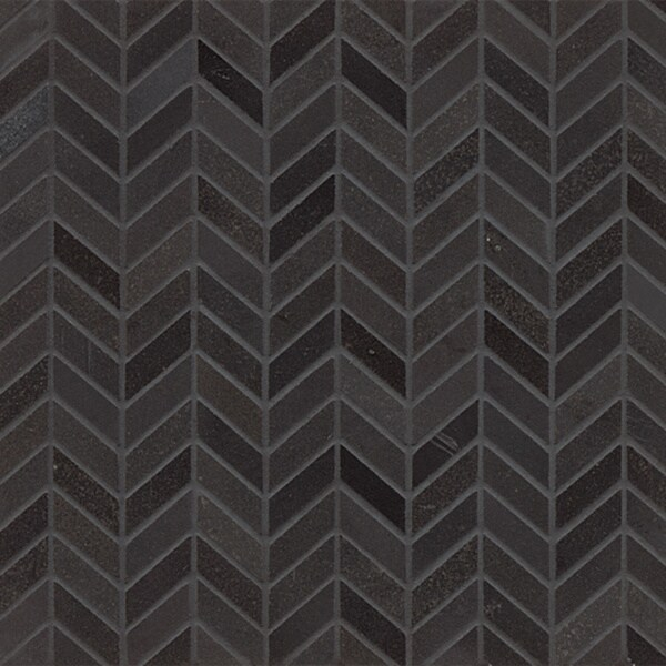 Absolute Black Granite Chevron Mosaic Polished Tiles Box