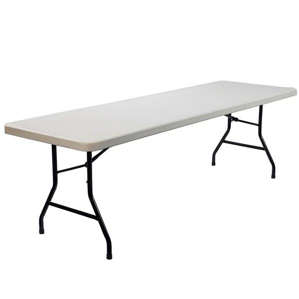 Lightweight Rectangular Plastic Folding Table 8 Feet