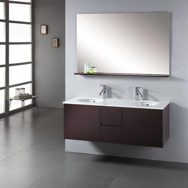 Virtu usa matteo 51 inch double sink bathroom vanity set - 52 inch bathroom vanity double sink ...