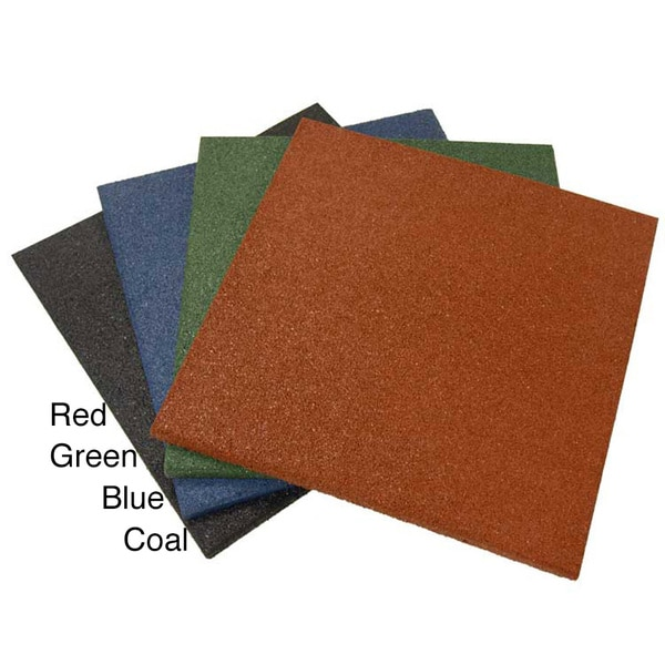 Rubber Cal Eco Sport 1 Inch Interlocking Flooring Tiles 1 X 20 X 20 Inch Rubber Tile 4 Colors 3 Pack 8 5 Sqr Ft Coverage 15566886