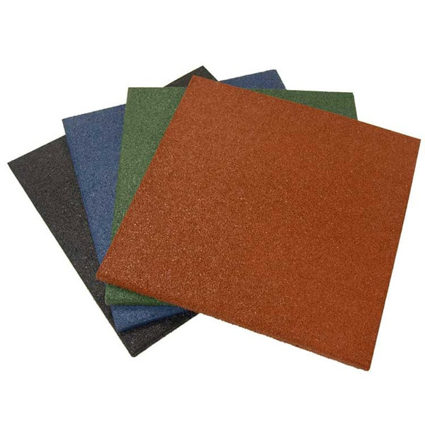 Rubber Cal Eco Sport 3 4 Inch Interlocking Rubber Tiles 3 4 X 20 X 20 Inch Rubber Tile 4 Colors 5 Pack 14 Sqr Ft Coverage 15567673